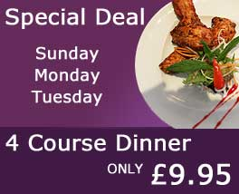 Special Deal at Sangri Indian Restaurant Croydon